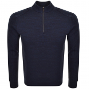 BOSS HUGO BOSS Sidney 19 Half Zip Sweatshirt Navy